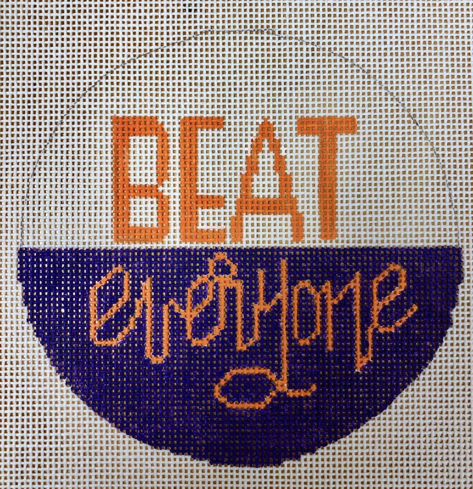 beat everyone, orange & purple