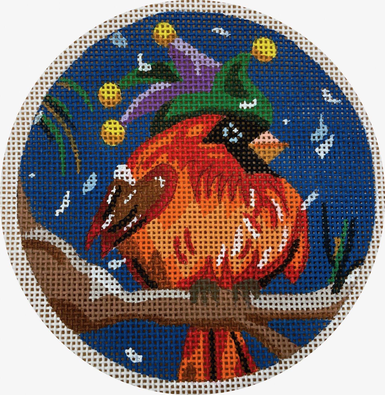 cardinal in carnival hat