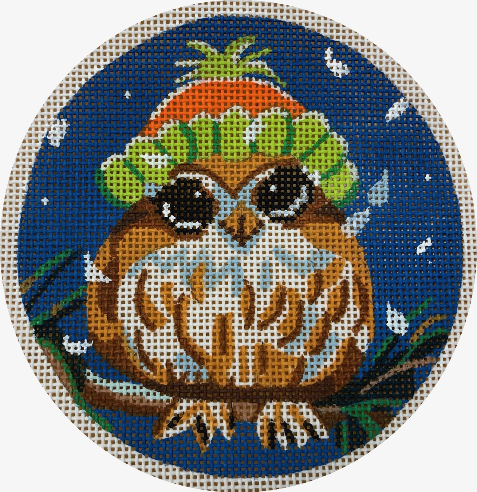owl in snowcap