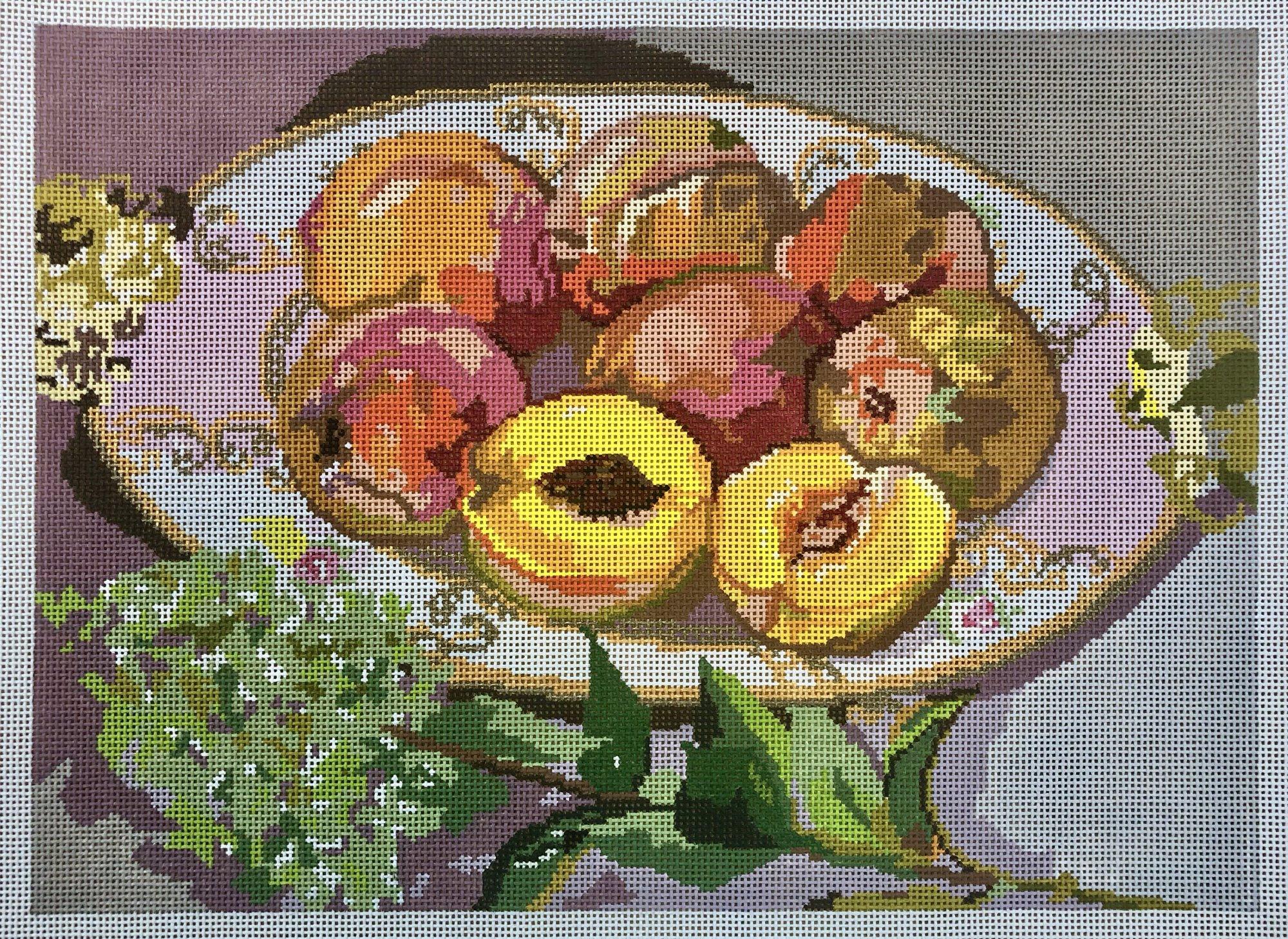 china w hydrangea & peaches