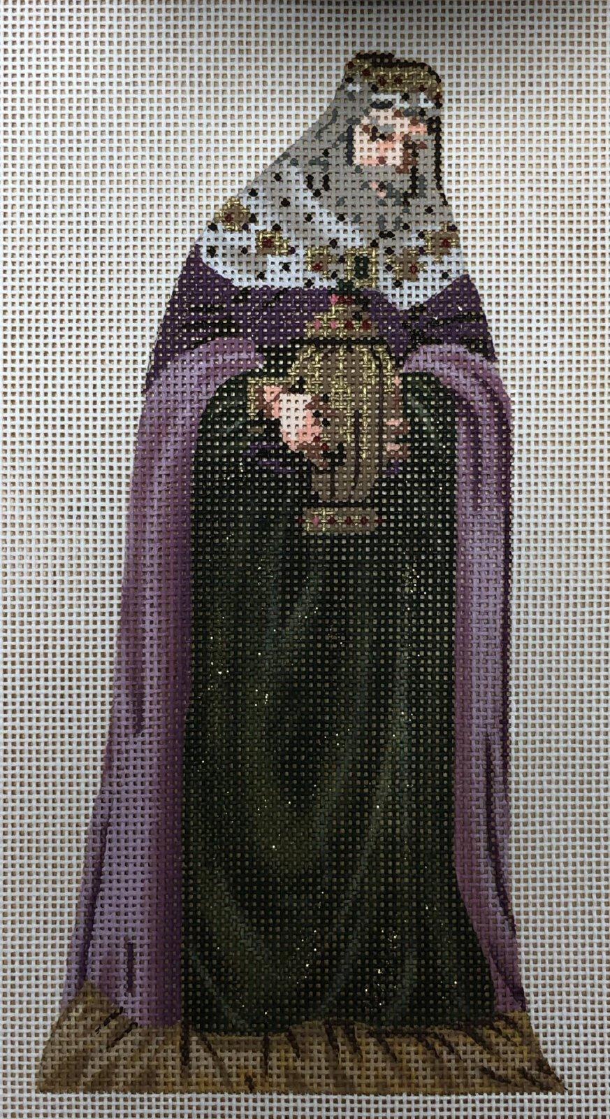 nativity doll, purple king