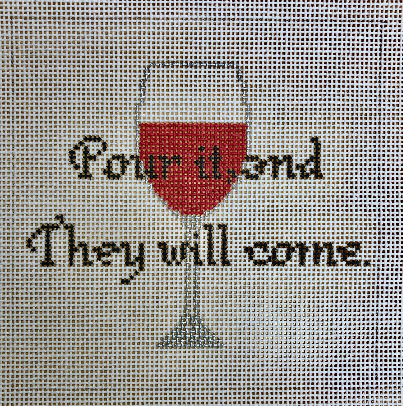 pour it, and they will come