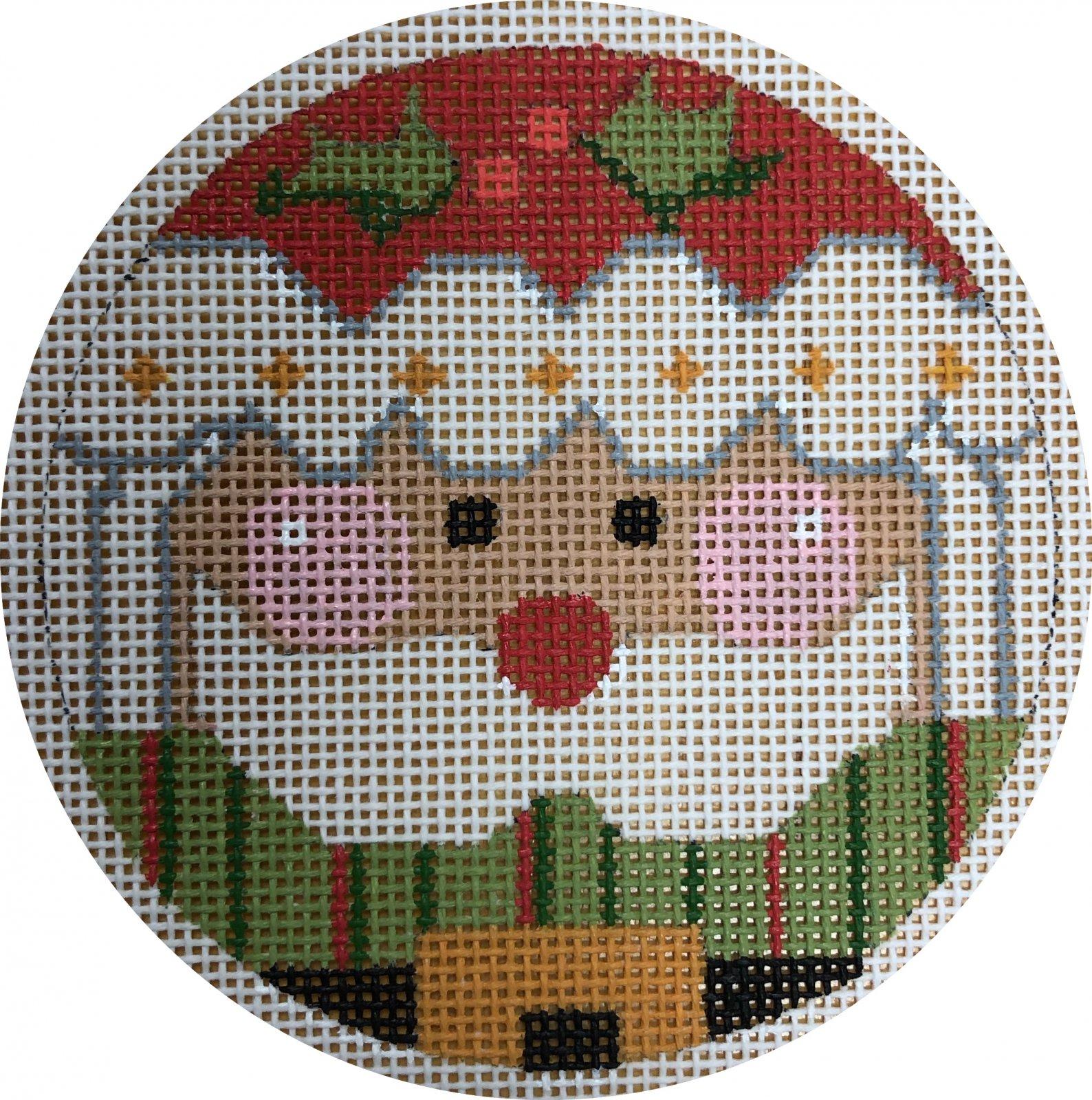 santa holly ornament