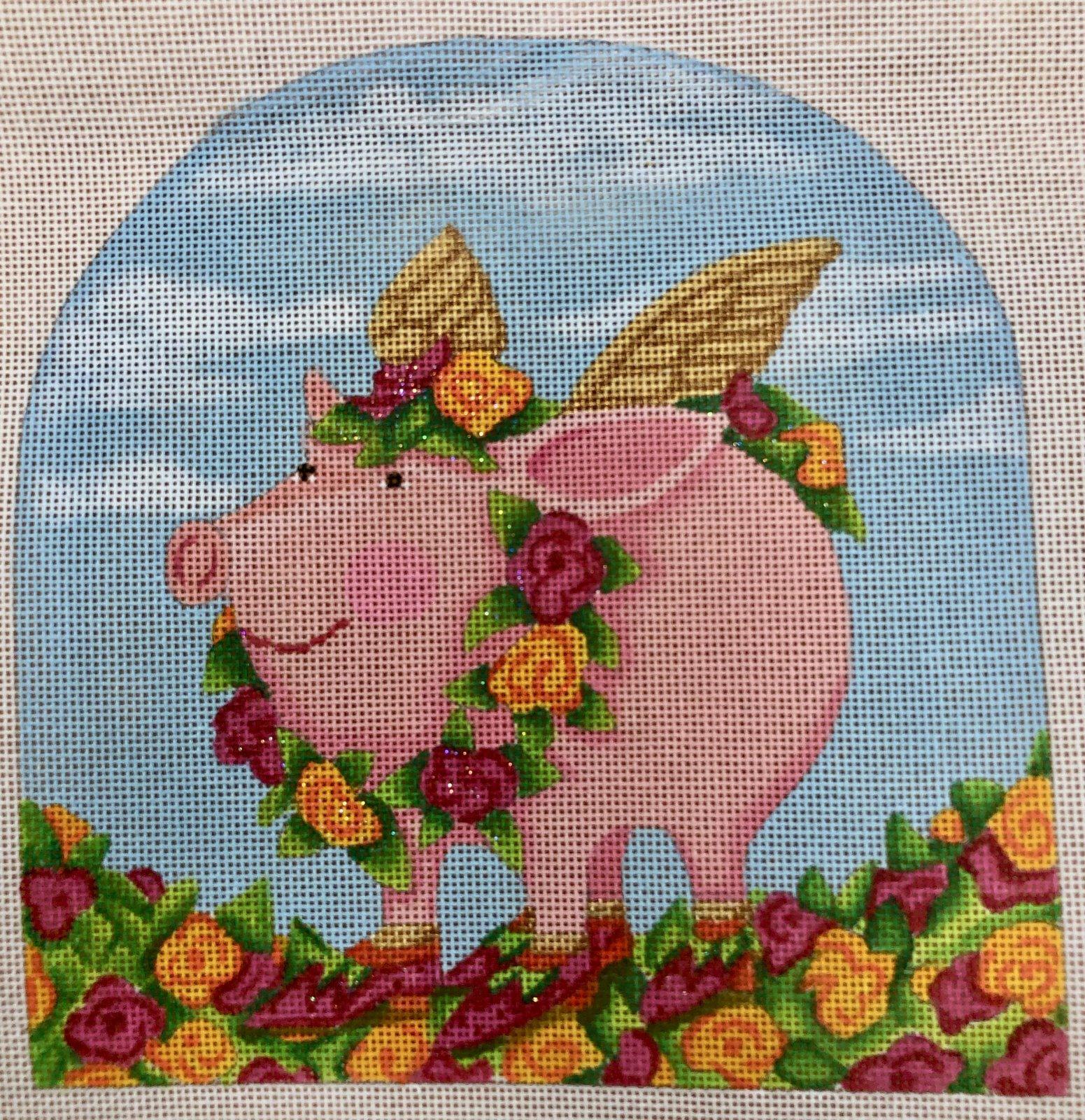 rose flying pig