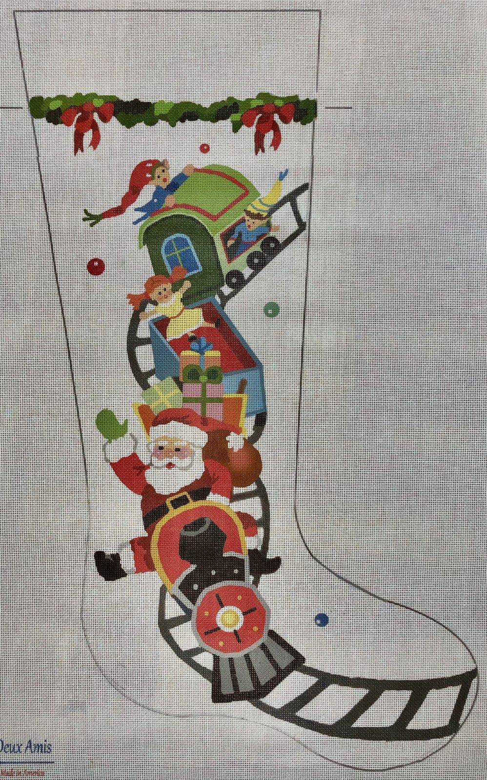 santa train stocking