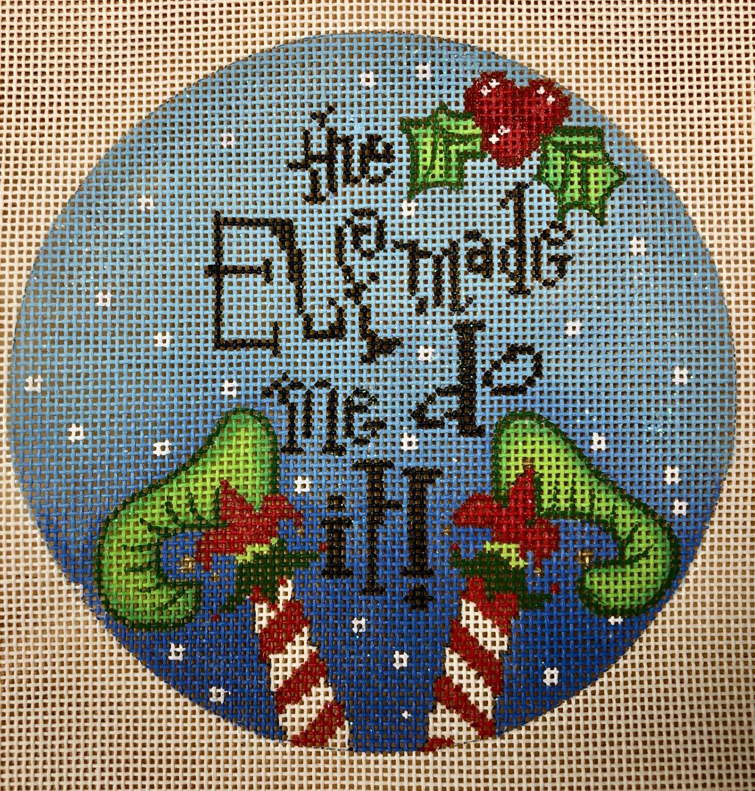 the elf made me do it, blue