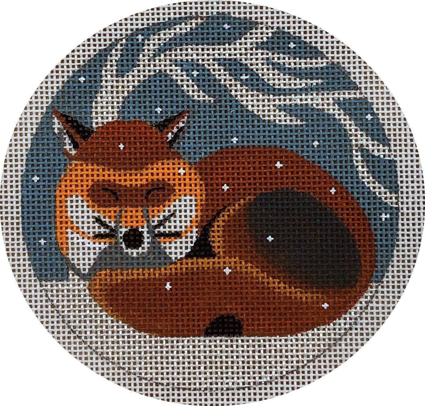 sleeping fox ornament