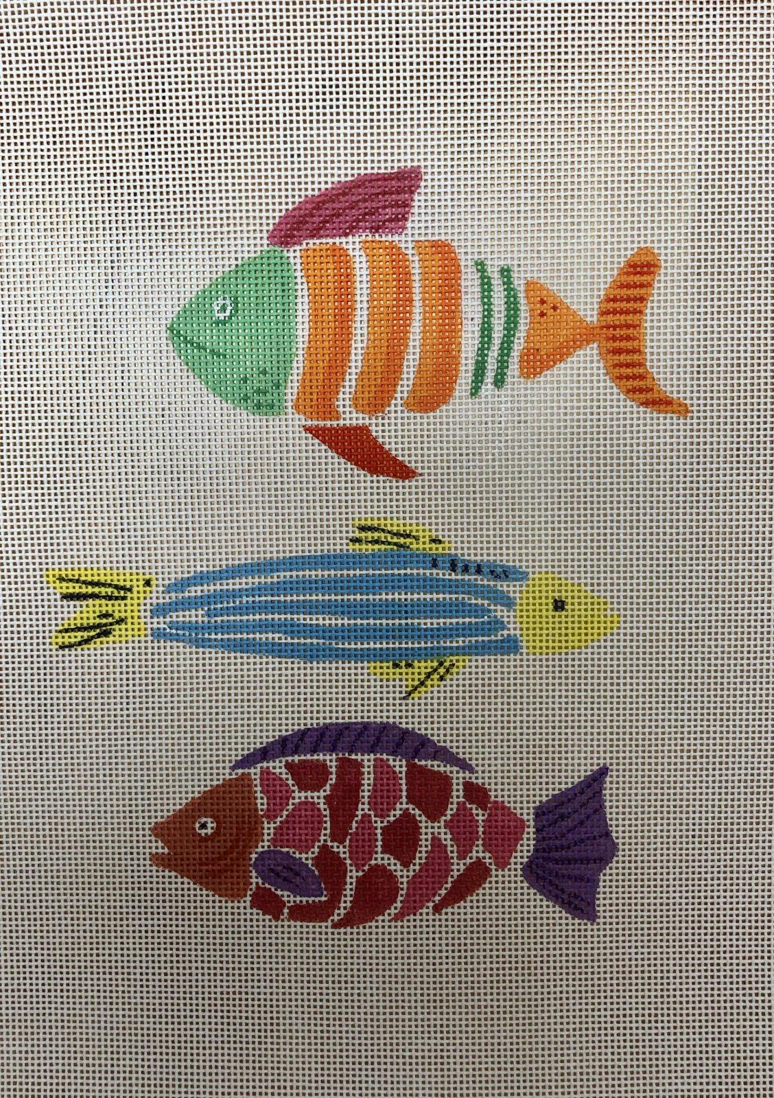 3 colorful fish