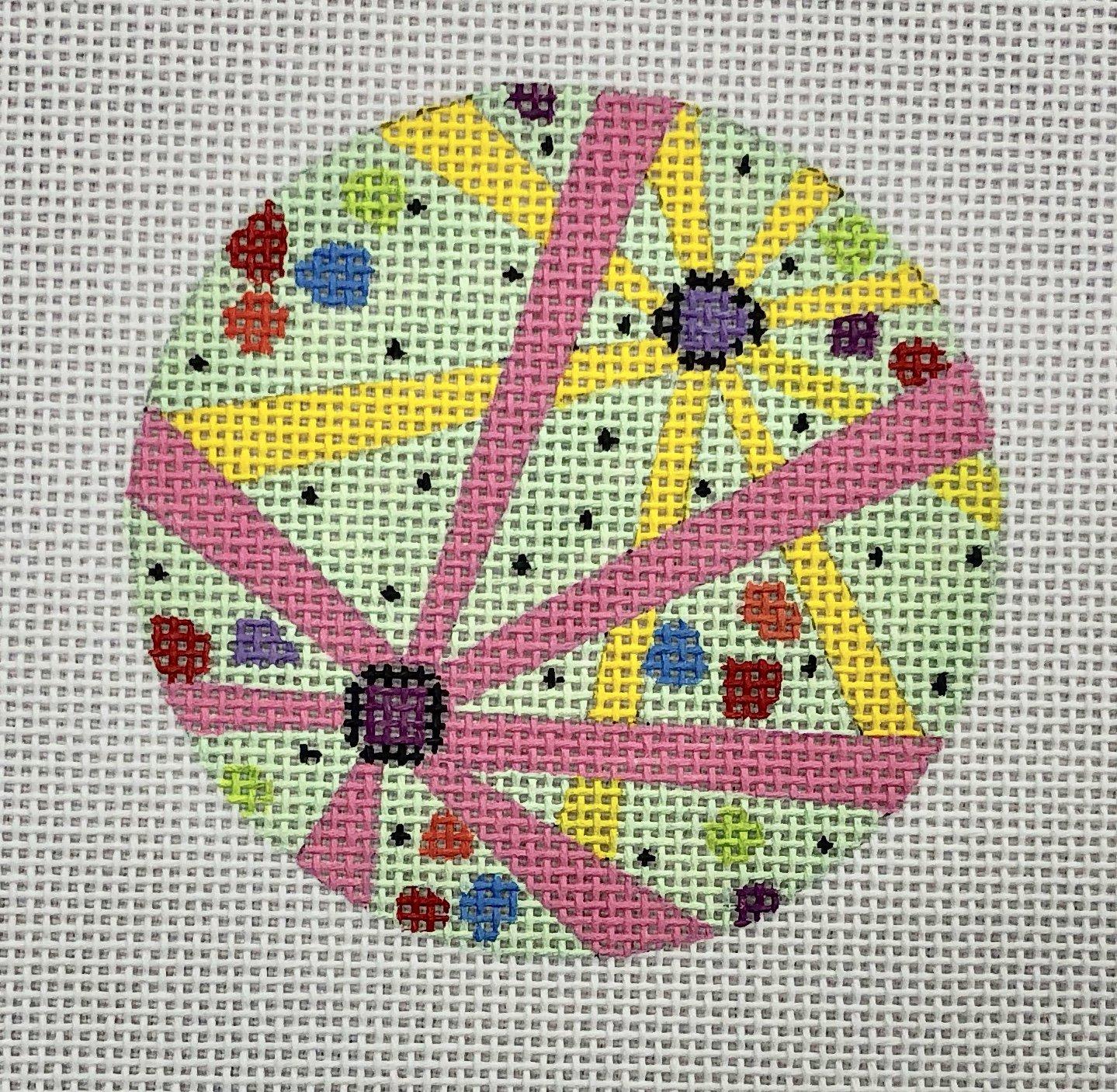 pink flower round