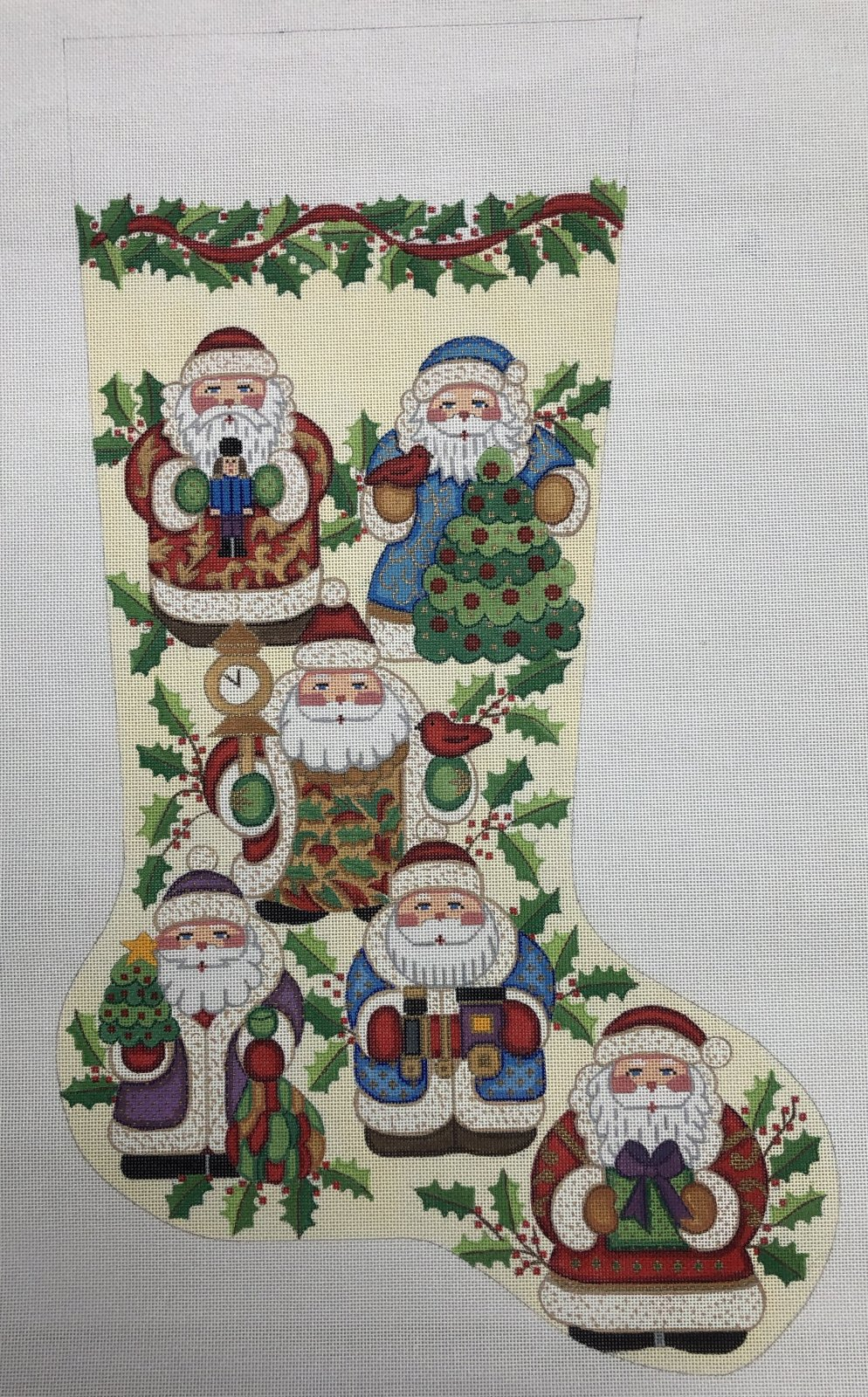 nativity stocking w cross embellishements