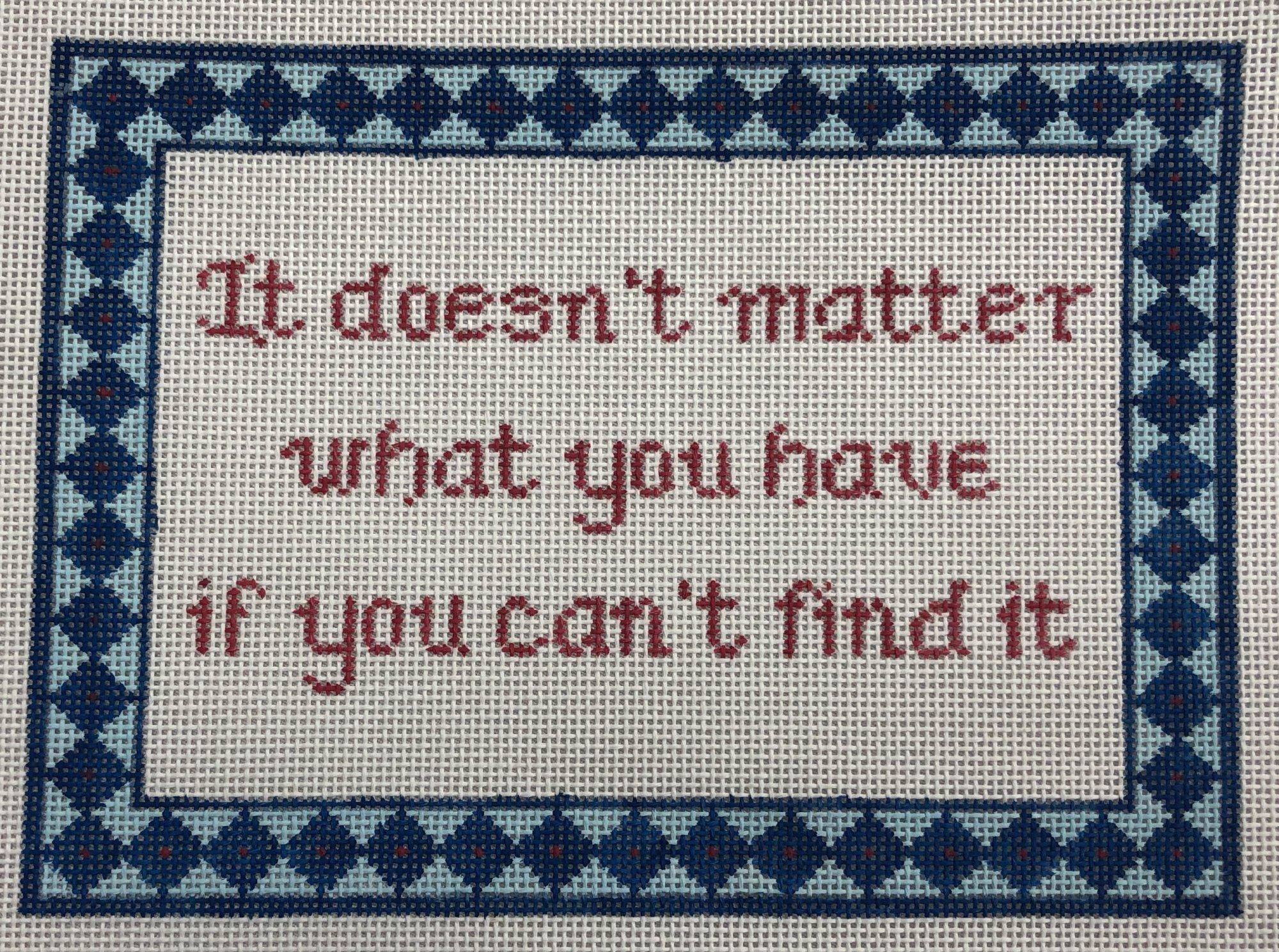 doesn't matter...