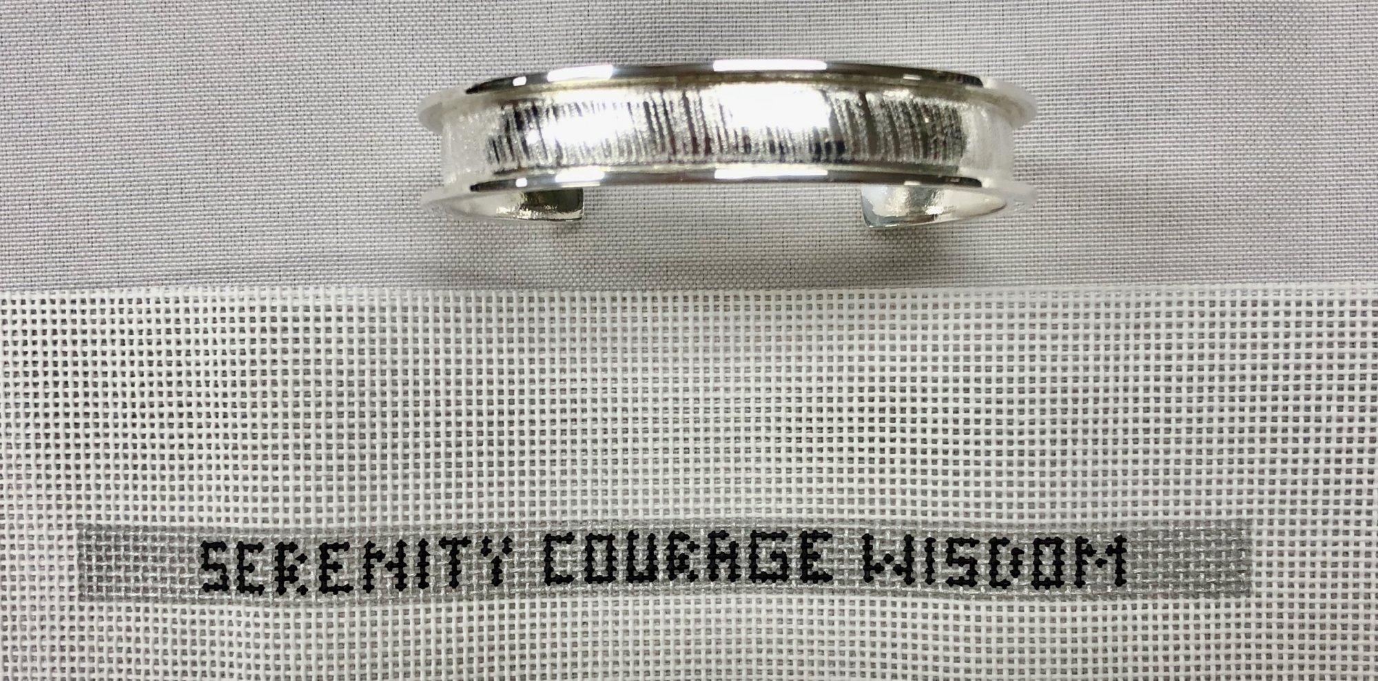 cuff canvas w bracelet, skinny