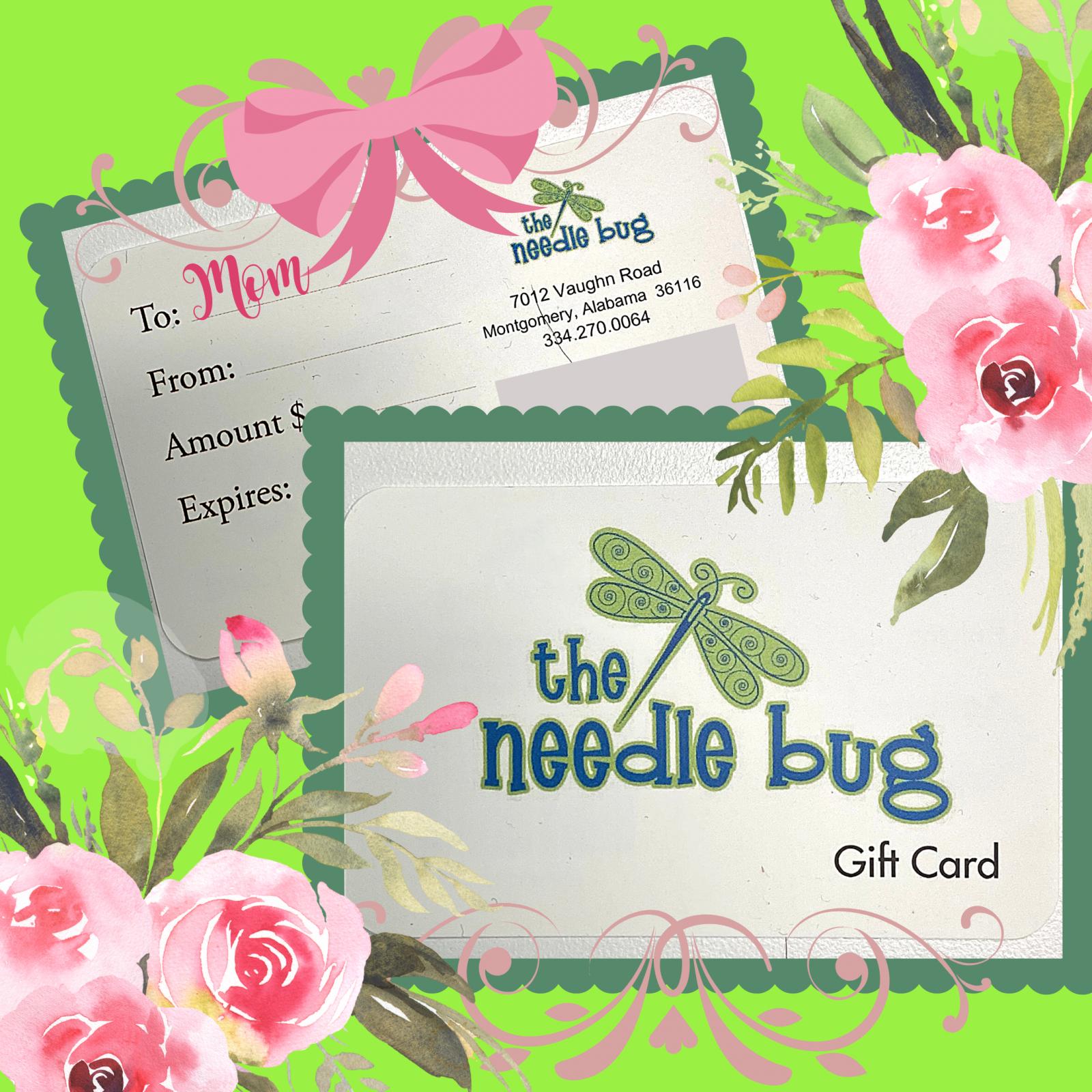needle bug gift card