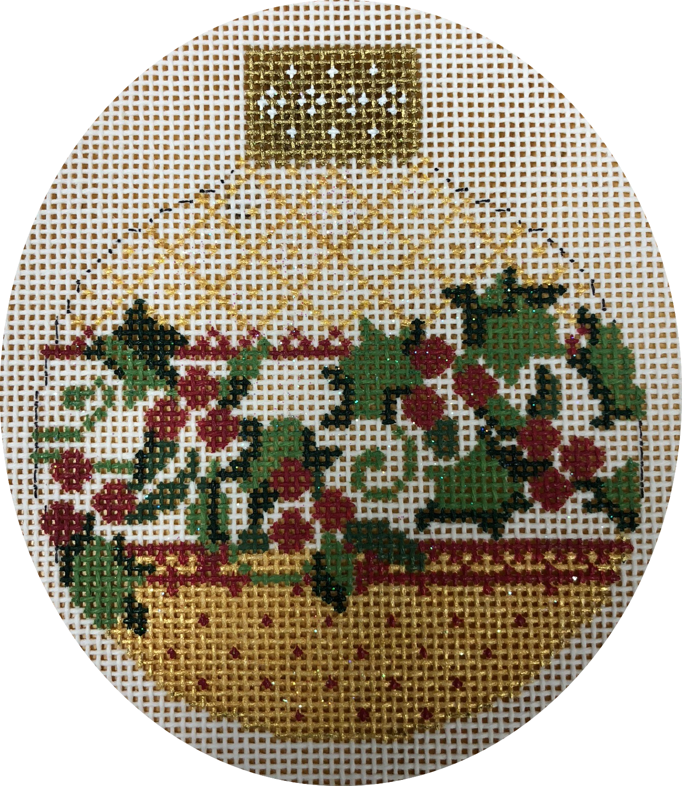 antique holly ornament