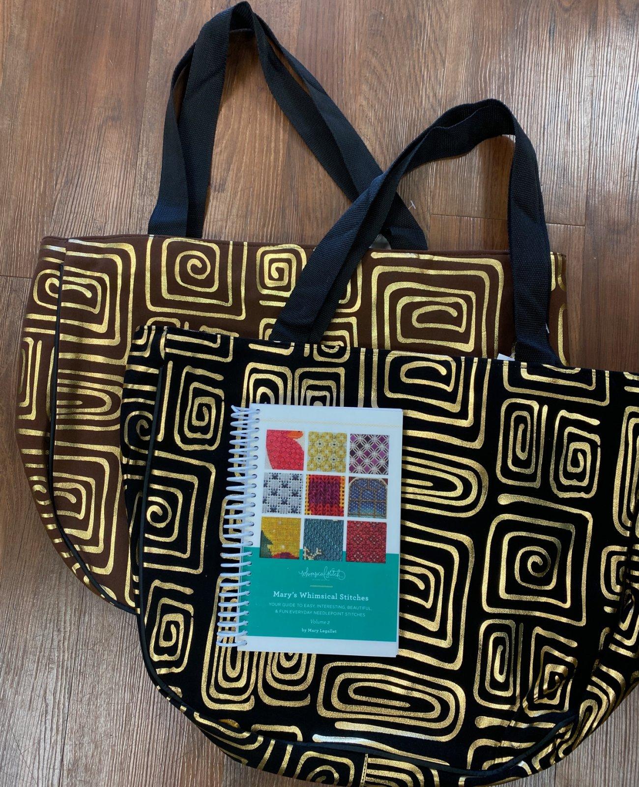 BONUS: Mary's Whimsical Stitches Book, Vol 2 w tote bag!