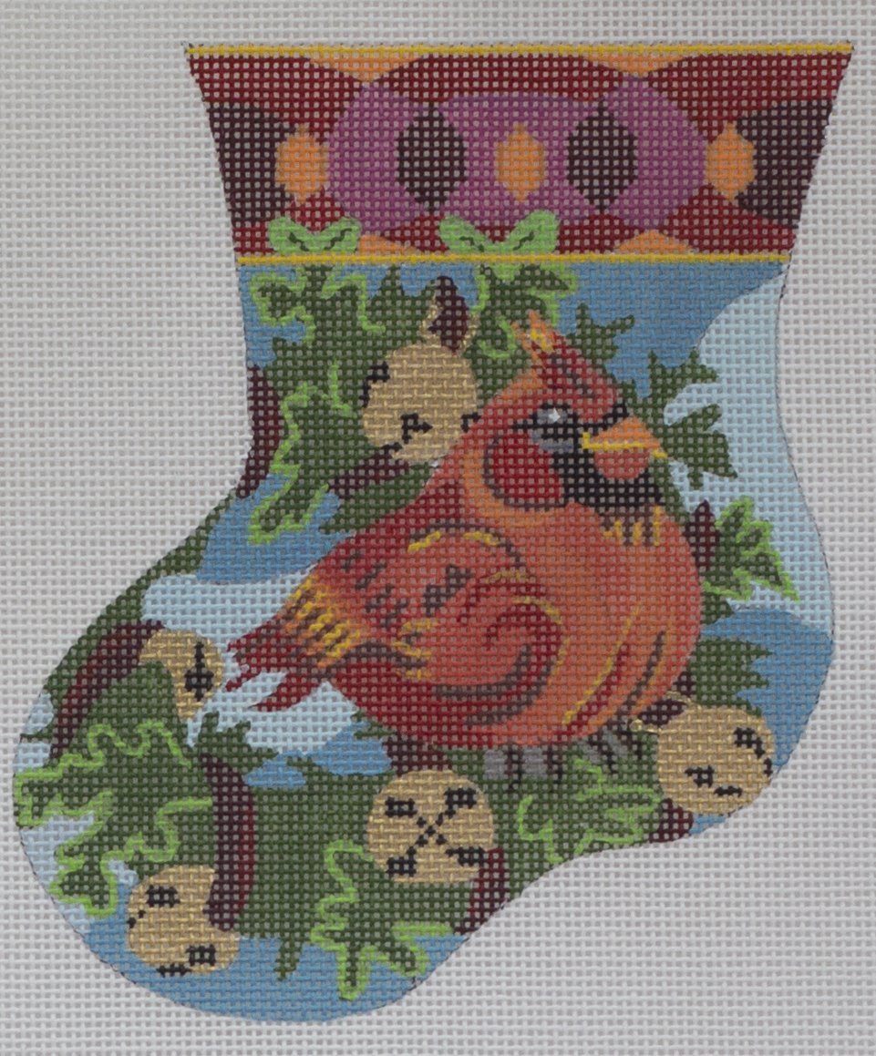jolly cardinal mini sock