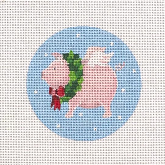 flying pig w wreath