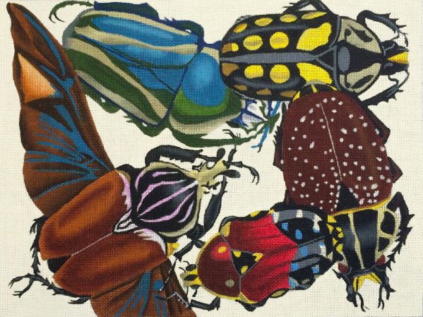 insects, burgundy