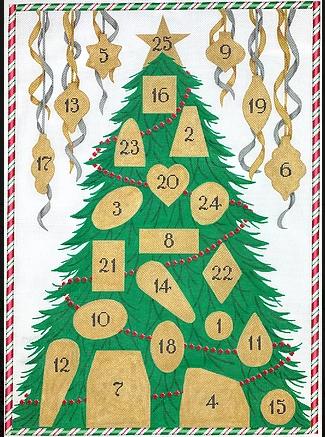 advent calendar w 25 ornaments & stitch guide