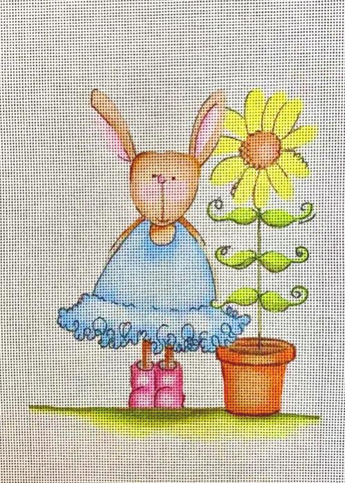 rabbit w sunflower