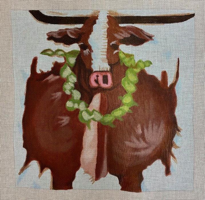 steer w wreath