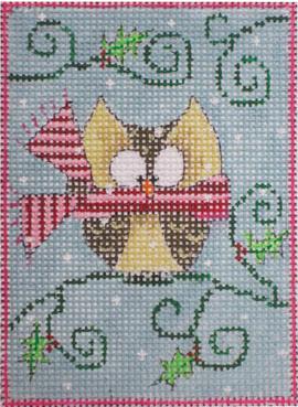 woodland santa, owl w stitch guide, threads*