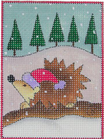 woodland santa, porcupine w stitich guide & threads*