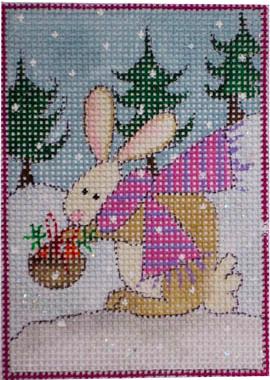 woodland santa, bunny