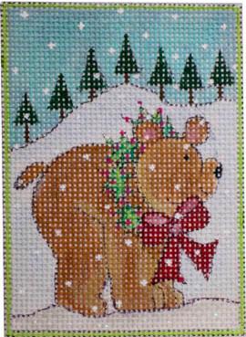 woodland santa, bear w stitch guide & threads*