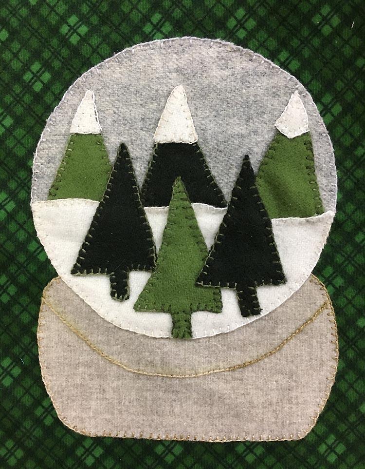 January 2018 Snow Globe Kit wool