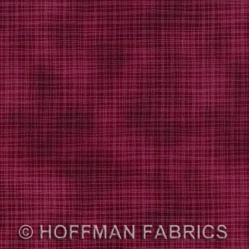 Hoffman Homespun  #8565-38 Burgundy