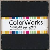 5 Colorworks Black Squares Northcott