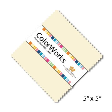 5 Colorworks Ivory Squares Northcott