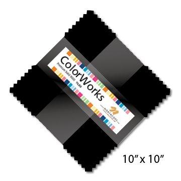 10 Colorworks Tiles Black Northcott