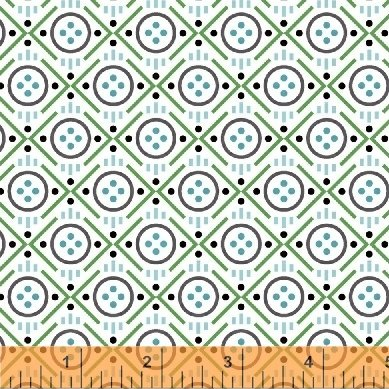 Button - Uppercase Vol 2 - Janine Vangool - Windham Fabrics