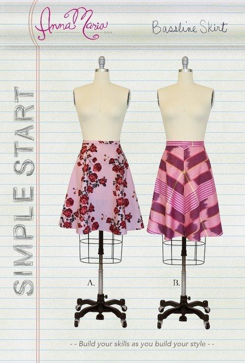 Bassline Skirt - Simple Start - Anna Maria Horner