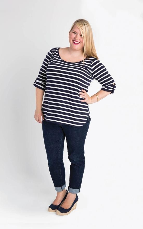 Concord T-Shirt - Sizes 12 - 28 - Cashmerette