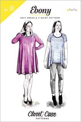 Ebony Tee Knit Dress & T-Shirt Pattern - Closet Case Patterns