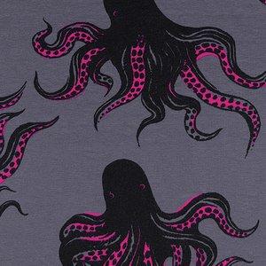 Mystery Food - Smoke - Dress Shop Knit - Sarah Watts - Cotton + Steel
