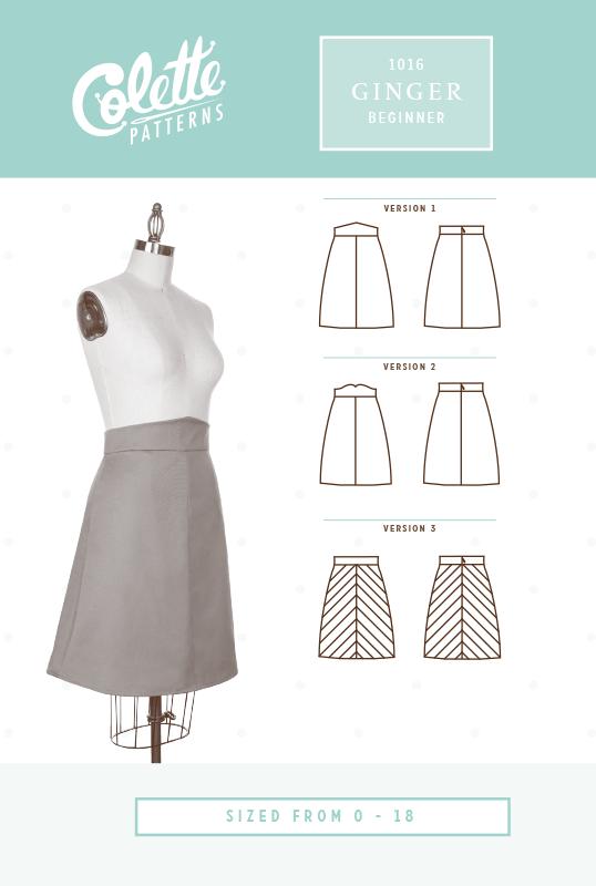Ginger Skirt - Colette Patterns - Sizes 0 - 18
