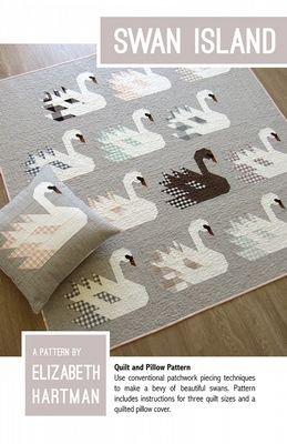 Swan Island Quilt and Pillow Pattern - Elizabeth Hartman