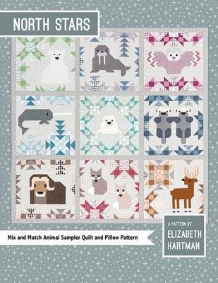 North Stars Animal Sampler Quilt and Pillow Pattern - Elizabeth Hartman