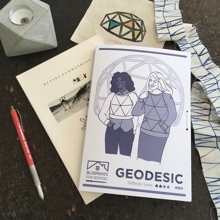 Geodesic - Sweatshirt Pattern - Blueprints For Sewing