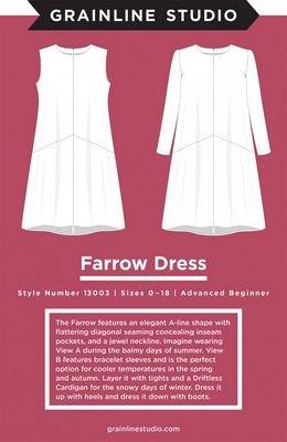 Farrow Dress Pattern - Sizes 0-18 - Grainline Studio