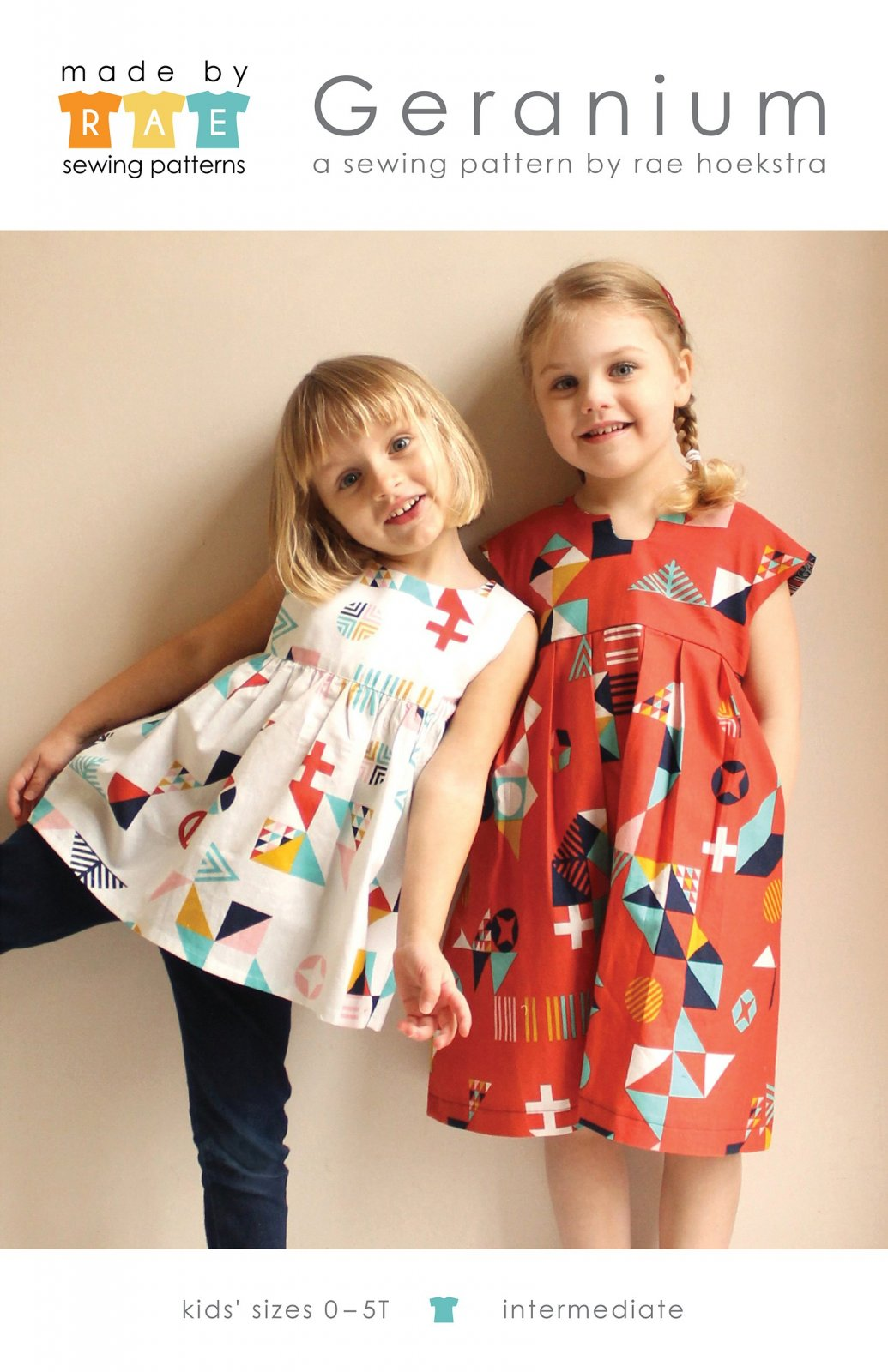 Geranium Dress Pattern - Sizes 0-5T - Made By Rae