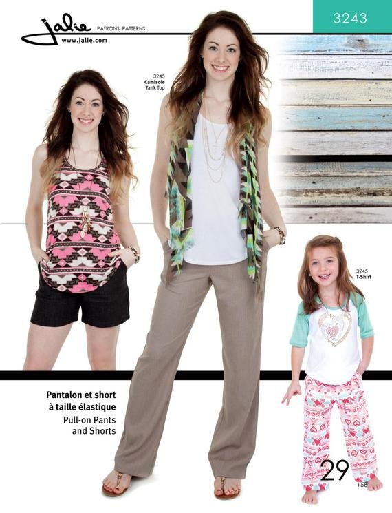 Pull-On Pants and Shorts - Jalie Sewing Patterns