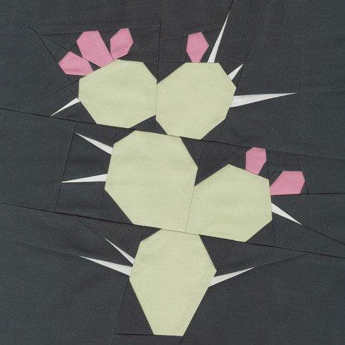 Kona Designer BOM - Block 12 Kit - Violet's Cactus - Violet Craft