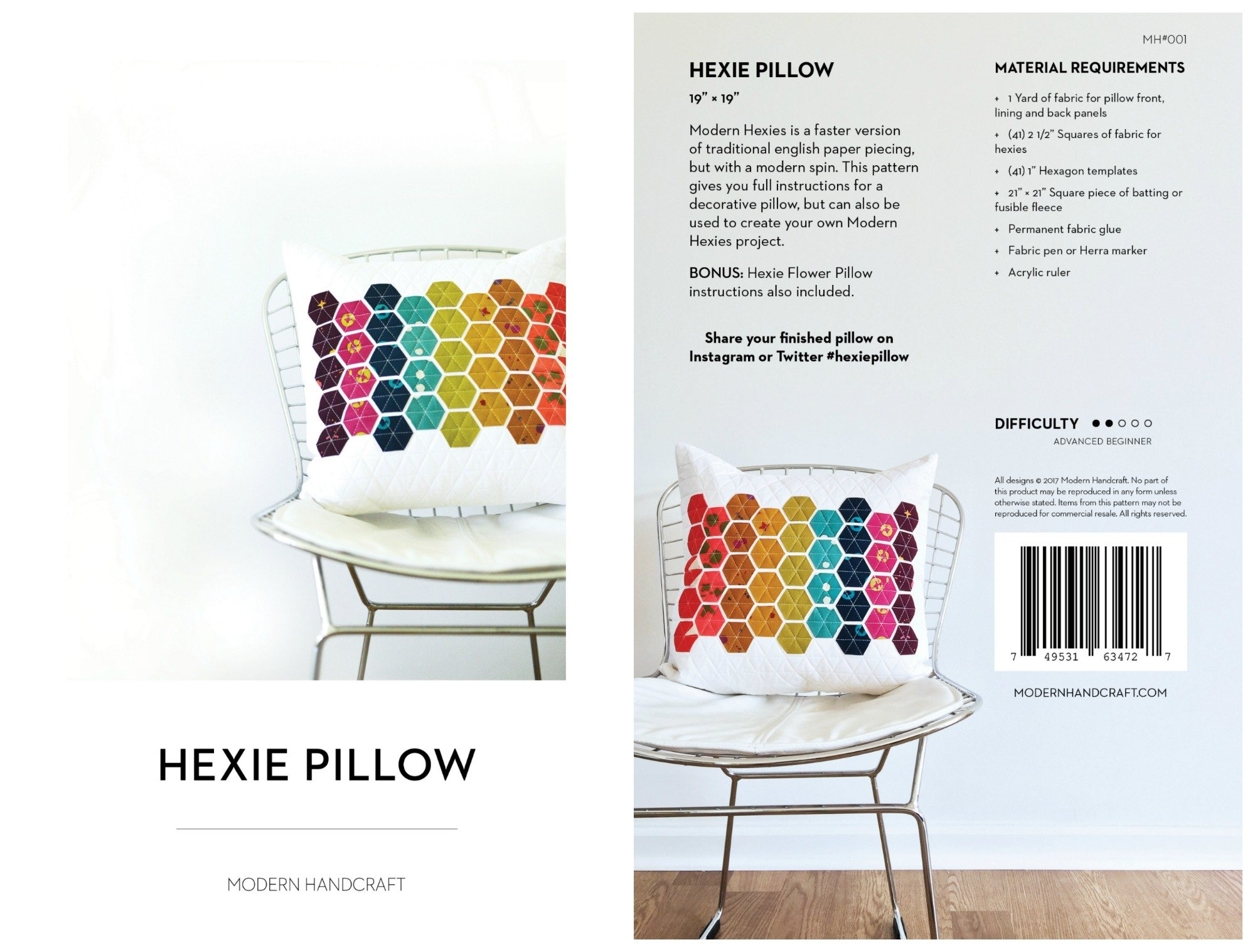 Hexie Pillow Pattern - Modern Handcraft