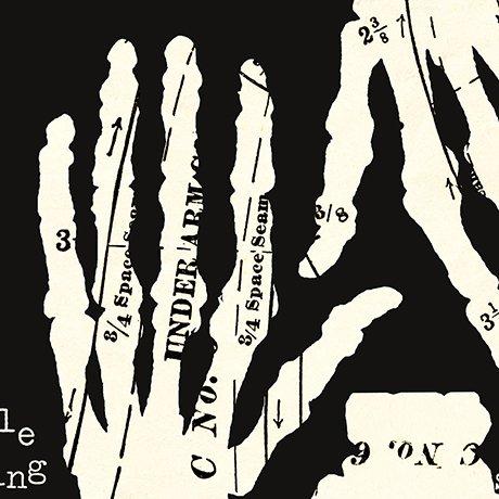 Hands Off - Black/Cream - Queen of We'en - QT Fabrics