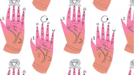 Palm Chart - White - Magik - Rae Ritchie - Dear Stella